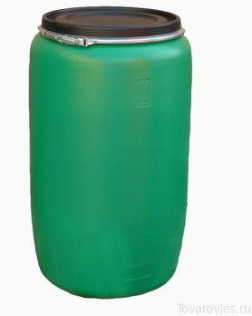 Пластиковая бочка 227 литров зеленая