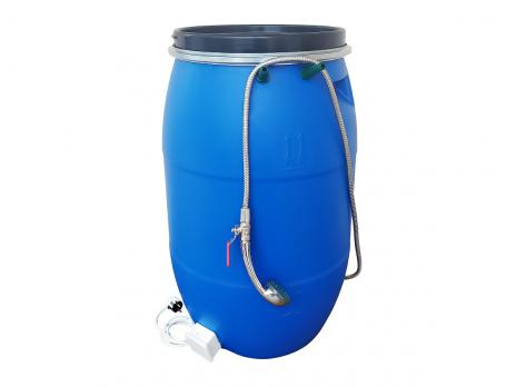 Бочка для душа 127 литров с подогревом СТАНДАРТ с гибким шлагом