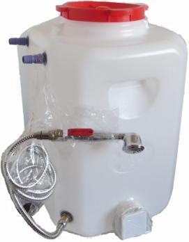 Бочка для душа 110 литров с подогревом и гибким душевым шлангом