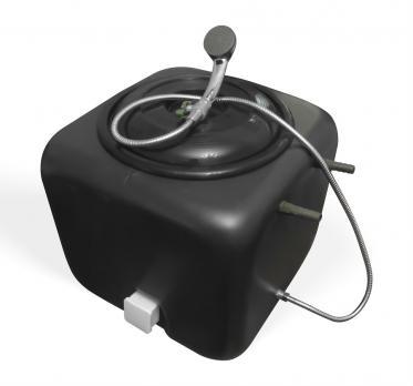 Бак для душа 100 литров с подогревом и гибким душевым шлангом