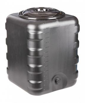 Бак квадратный 150 литров (черный)