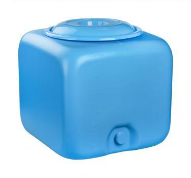 Бак квадратный 100 литров (синий)