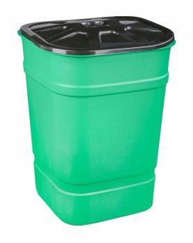 Бочка-бак с крышкой 250 литров (квадратный)