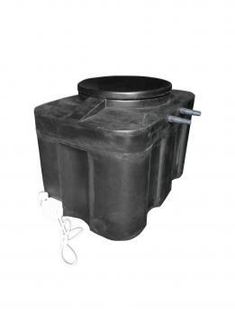 """Бак для душа 150 литров """"Прямоугольный"""" с подогревом  СТАНДАРТ"""