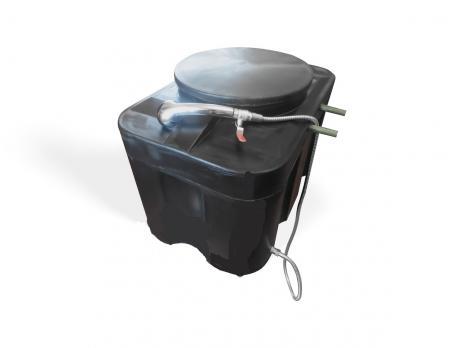 """Бак для душа 150 литров """"Прямоугольный"""" с подогревом  СТАНДАРТ с гибким шлангом"""