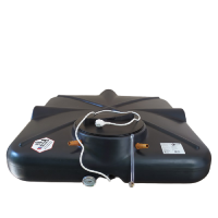 Бак душевой «РОСА» 250 литров с подогревом, термометром и уровнем ЛЮКС