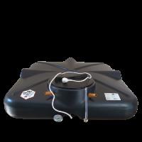Бак душевой «РОСА» 130 литров с подогревом, термометром и уровнем ЛЮКС