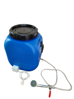 Бочка для душа 50 литров с подогревом и гибким душевым шлангом, Синий